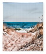 A Walk Out To The Water Fleece Blanket