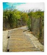 A Walk To The Beach Fleece Blanket