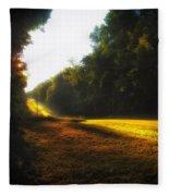 A Warm Michigan Sunrise Fleece Blanket