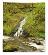 A Waterfall Into Oneida Creek Fleece Blanket