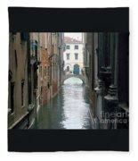 A Waterway Of Venice  Fleece Blanket