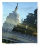 A Watery Capitol Fleece Blanket