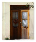 A Welcoming Door Fleece Blanket
