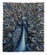 A White Peacock Fleece Blanket