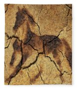 A Wild Horse - Wal Art Fleece Blanket