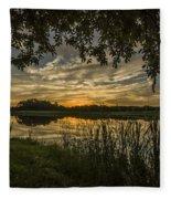 A Window To Sunset Fleece Blanket