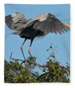 A Winged Stance Fleece Blanket