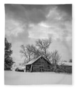 A Winter Eve Monochrome Fleece Blanket