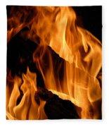 A Winter Fire Fleece Blanket
