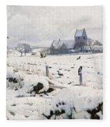 A Winter Landscape Holmstrup Fleece Blanket