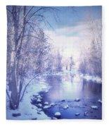 A Winter Reverie Fleece Blanket