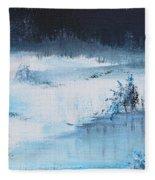 A Winter Scene Fleece Blanket