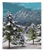 A Winter Scene... Fleece Blanket