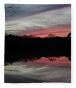 A Christmas Winter Sunset Fleece Blanket