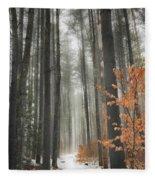 A Winters Path Fleece Blanket
