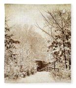 A Winter's Path Fleece Blanket