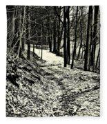 A Winter's Trail Fleece Blanket