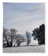 A Wintery Day Fleece Blanket