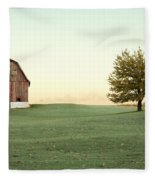 A Wisconsin Postcard Fleece Blanket