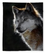 A Wolf 2 Digital Art  Fleece Blanket