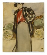 A Woman Driver Fleece Blanket