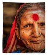 A Woman Of Faith Fleece Blanket