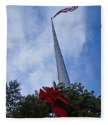 A Wreath For Our Heroes Fleece Blanket