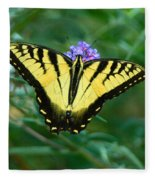 A Yellow Butterfly Fleece Blanket