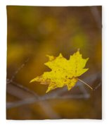 A Yellow One Fleece Blanket