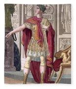 A Young Emperor In His Imperial Armour Fleece Blanket