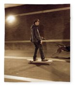 A Young Man On A Skateboard Is Pulled Fleece Blanket