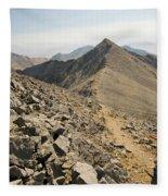 A Young Woman Hikes Borah Peak Fleece Blanket