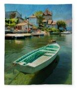 A Yvoire - France Fleece Blanket
