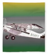 A1a Husky Aviat Airplane Fleece Blanket
