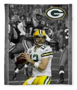 Aaron Rodgers Packers Fleece Blanket