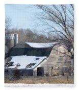 Abandoned Barn Fleece Blanket