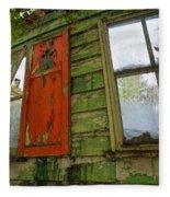 Abandoned Cabin Elkmont - Coming Down Clover Fleece Blanket