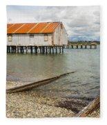 Abandoned Cannery Fleece Blanket