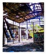 Abandoned Factory Fleece Blanket