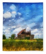 Abandoned Farm 03 Photo Art Fleece Blanket