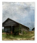 Abandoned Farm Home - Kansas Fleece Blanket