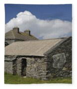 Abandoned Farm In Ireland Fleece Blanket