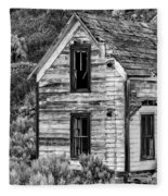 Abandoned Farmhouse - Alstown - Washington - May 2013 Fleece Blanket