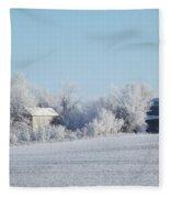 Abandoned Frost Farm Fleece Blanket
