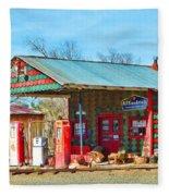 Abandoned Gas Station Fleece Blanket