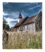 Abandoned Grave In The Churchyard Fleece Blanket