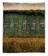 Abandoned Green Sugar Mill Building Dsc04353 Fleece Blanket