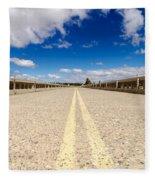 Abandoned Highway Fleece Blanket
