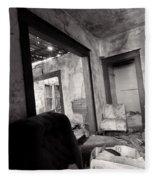 Abandoned Homestead Series Decay 2 Fleece Blanket