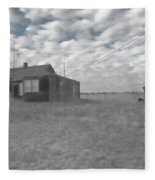 Abandoned Homestead Series Selective Color Fleece Blanket